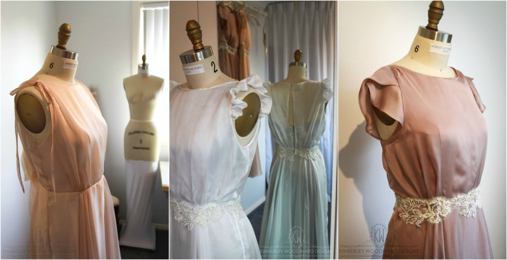 Each gown had slightly different sleeves: One had delicate ties, one had beautiful frills, and the final gown had feminine petal cap sleeves.