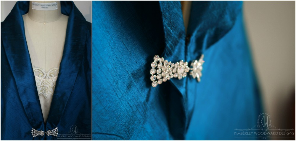 Lynne's gorgeous tailor made blazer featured a sparkling Swarovski crystal clasp.