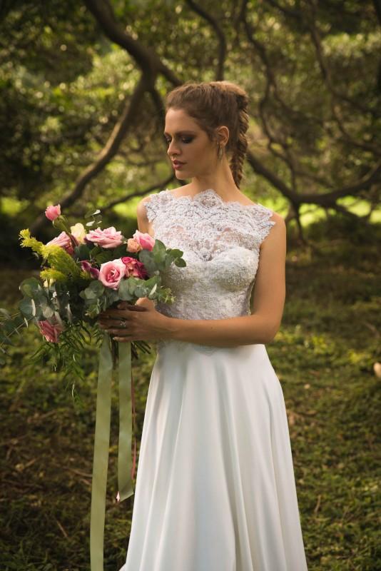 Polyester Wedding Dress - KIMBERLEY WOODWARD DESIGNS