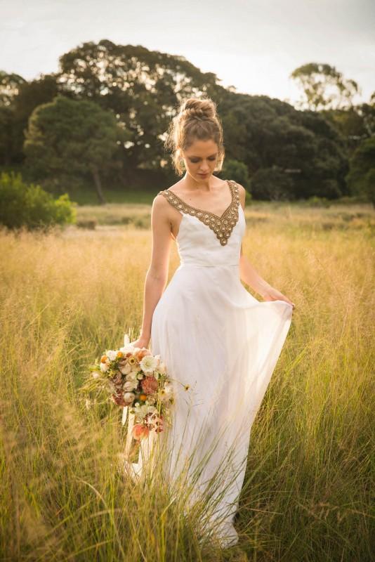 Silk Wedding Dress - KIMBERLEY WOODWARD DESIGNS
